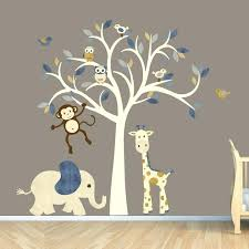 wall art for babies rooms cream tree decal denim color boy room wall decal jungle animal on baby room jungle wall art with wall art for babies rooms cream tree decal denim color boy room wall