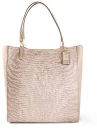 Lyst - Coach Madison Northsouth Bonded Tote in Pink
