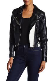 blanknyc denimonce in a lifetime faux leather jacket