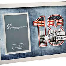 a funky photo frame to mark an 18th birthdaydenim
