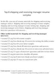 Index Clerk Sample Resume Classy Shipping Marketing Manager Resume For Clerk Receiving And