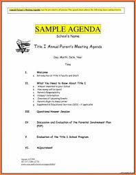 Business Agenda Parent Meeting Agenda Template Beconchina Resume Samples