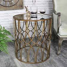 antique mirrored furniture. Ornate Antique Gold Mirrored Side Table - Vintage Furniture