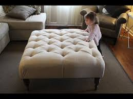 diy fabric ottoman coffee table you