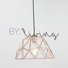 copper geometric wire cage pendant light cafe loft modern contemporary hanging