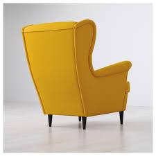Wingback Chair Strandmon Wing Chair Skiftebo Yellow Ikea