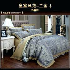blue paisley bedding sets luxury blue paisley gold satin jacquard bedding set king queen size sheet