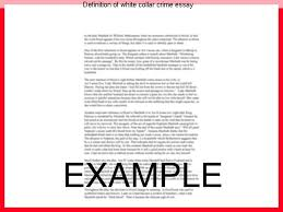 definition of white collar crime essay essay academic writing service definition of white collar crime essay 1 explain the harm that white collar crime causes