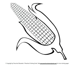 Coloring Page Of Corn Corn Coloring Pages Corn Cob Coloring Page