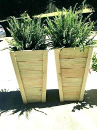 wooden planters with trellis planter box outdoor boxes large wood garden tre