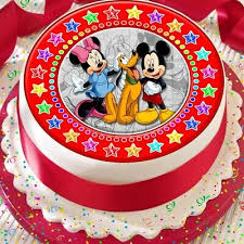 Mickey Minnie Mouse Red Star Border Precut Edible 75 Inch