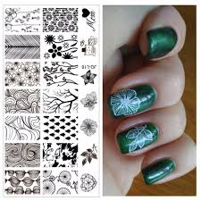 Professional Nail Polish Designs Us 0 63 55 Off Flowers Trees Leaves Designs Professional Nail Art Stamping Image Plate Tools For Girl Manicure Jq L18 In Nail Art Templates From