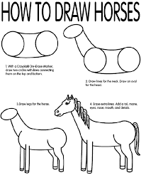 horses drawings in pencil step by step.  Drawings Use Crayola Colored Pencils To Draw Horses Follow The Steps Learn How  Like A Real Artist 1 Lightly Two Circles With Lines Connecting  Inside Horses Drawings In Pencil Step By
