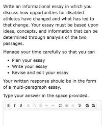 tn ready writing task example for th grade ela from the item  tn ready writing task example for 7th grade ela from the item sampler released by the doe students two texts informational or fictional a