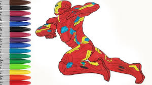 Ironman In Captain America The Civil War Coloring Pages Sailany