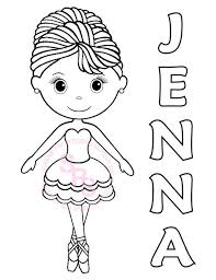 Ballet and ballerina coloring pages. Personalized Printable Ballerina Dance Birthday Party Favor Etsy