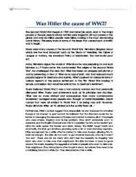hitler essay visalia essay ethics to what extent was hitler to blame for ww2 gcse history