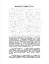 Confidentiality Agreement Samples Non Disclosure Agreement Template Animal Shelter 67 New Sample