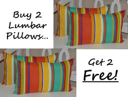 bright colored pillows.  Bright Get Quotations  Set Of 2  Indoor  Outdoor Decorative Lumbar Rectangle  Pillows  Free In Bright Colored O