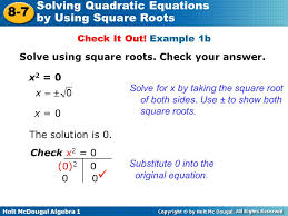 math worksheet solving quadratic equations by using square roots ppt solving quadratic equations by