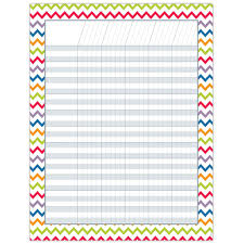 Free Printable Reading Incentive Charts Chevron Incentive Chart