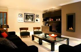 most popular living room furniture. Brown Accent Paint Wall Color With Black Sofa For Elegant Living Room Interior Design Most Popular Furniture R