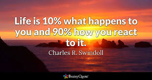 Purpose Of Life Quotes 61 Awesome Life Is 24% What Happens To You And 24% How You React To It