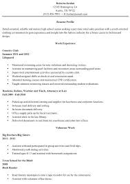 Senior Resume Examples Beauteous High School Graduate Resume Sample Examples For Students With Little