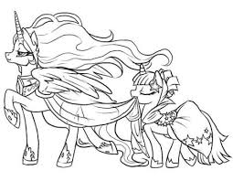 Small Picture My Little Pony Coloring Pages Princess Celestia In A Dress Part