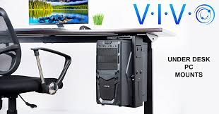 adjule under desk and wall pc mount mount pc01 from vivo the safety and efficiency of your computer s placement is no longer an issue