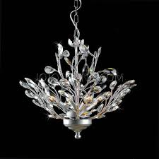 holly 4 light silver and crystal leaves chanderlier jpg
