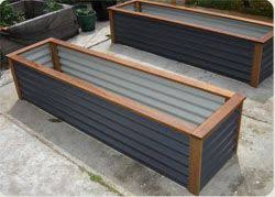 corrugated metal raised garden beds. Wood And Steel Raised Garden Beds.   Gardening Pinterest Raising, Gardens Corrugated Metal Beds T