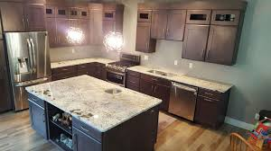 Colonial Gold Granite Kitchen Delicatus Gold Granite Delicatus Brown Close Up New Ice White