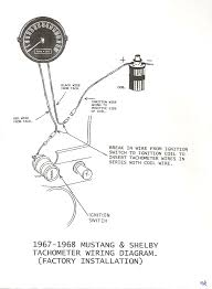 tech info 89 Mustang Ignition Wiring Diagram 1967 68 mustang shelby factory tach wiring diagram (jpeg image)