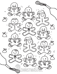 Free Gingerbread Man Coloring Page