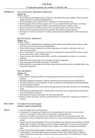 Etl Architect Resume Samples Velvet Jobs
