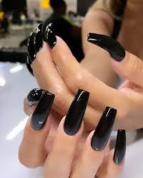 12 pinturas acrilicas para decoracion de uñas o tela ropa para hacer diseños en mano alzada. Deberias Probar 23 Unas Acrilicas Negras Ahora Blog De Mujeres