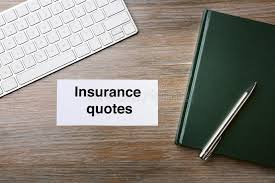 card with text insurance quotes stock image image of broker computer 105429823