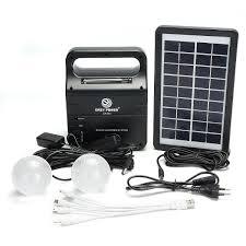 Tafellamp Solar Generator Draagbare Kit Zonne Generatorsysteem Met