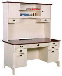 furniture white wooden corner desk with hutch and dark