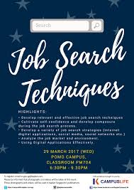 event details job search techniques kaplan campuslife job search techniques