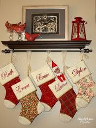 Clever option if no mantle is available; I also like hanging the stockings  with sheer
