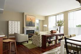apartment living room rug. Apartment : Impressive Interior Design For A Small Living Room Using Floral Pattern Sofa And Wooden Behind Shelves Plus Green Area Rug Also