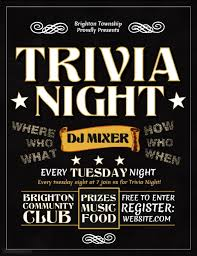 trivia night flyer templates trivia night template postermywall