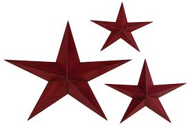 metal star wall decor: red metal stars set of  media image