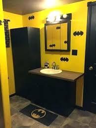 batman bathroom set piece complete bathroom set batman bathroom batman complete bath set shower curtain hooks batman bathroom
