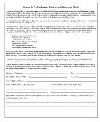 Background Check Consent Form Sample 8 Examples In Word Pdf