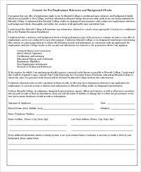 Background Check Authorization Form Unique 44 Background Check Consent Form Samples Sample Templates