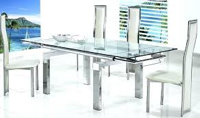 coaster glass dining table expandable glass dining table glass extendable table small extendable glass dining table
