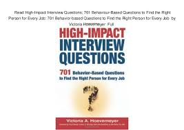 Behaviour Based Questions Read High Impact Interview Questions 701 Behaviour Based Questions